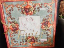 "LARGE 18"" VINTAGE DOSHI EVITA HAPPIDEA WALLPAPER SAMPLE CARRY BOOK IDEAL CRAFTS"